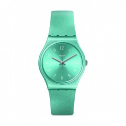 Swatch So Blue Quartz Analog 34mm Unisex Rubber Watch (GS160)