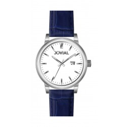 Jovial GS2008-51 Fashion Analog Gents Watch – Leather Strap – Blue