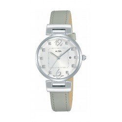 Alba Quartz 28mm Ladies Analog Leather Watch (H7Q81X1) - Grey