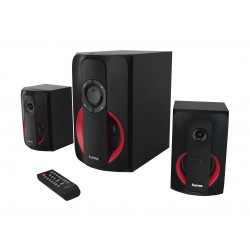 Hama PR-2180 2.1 Bluetooth Speaker System - Black Red