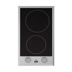 Beko 30cm 2-Ceramic Burner Built In Electric Hob (HDCC 32200 X)