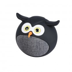 Promate Hedwig Bluetooth Wireless Owl Speaker - Black