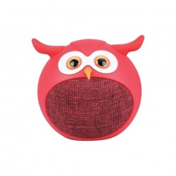 Promate Hedwig Bluetooth Wireless Owl Speaker - Red