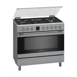 Bosch 90X60 5 Burner Gas Range Cooker (HGK90VQ50M) - Stainless Steel