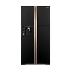 Hitachi 26 CFT Fourdoor Refrigerator (R-W660FPK3X) - Black