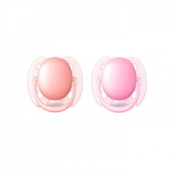 Philips Avent 2 Pack Ultra Soft Pacifier - Pink