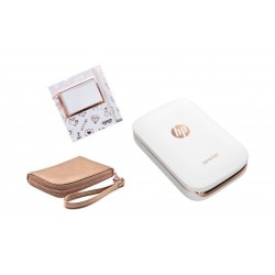 HP Sprocket X7N07A Printer + Gold Wallet Case + Photo Album