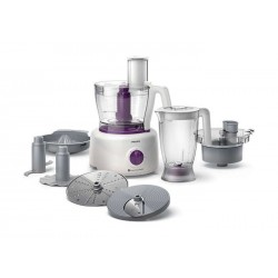 Philips 5-IN-1 1000W 3.4L Viva Collection Food Processor (HR7757/01) – Purple / White