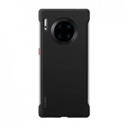 Huawei Mate 30 Pro Stylish Silicon Case - Black