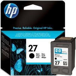 HP Ink 27B for Inkjet Printing 280 Page Yield - Black (Single Pack)