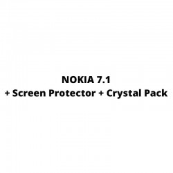 Nokia 7.1 Cover + Screen Protector + Crystal Pack