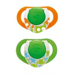 Chicco 2Pcs PhysioRing Silicone Soother - Lumi