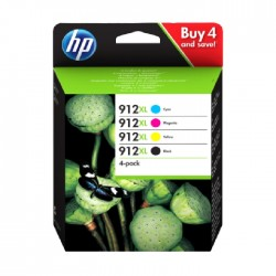 Hewlett Packard HP 912XL 4-pack Original Ink Cartridge (3YP34AE)