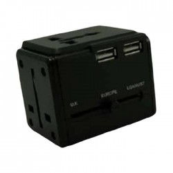 American Tourister Universal Travel Adapter With 3 USB (Z19X09068)
