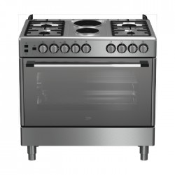 Beko 90X60cm Cooking range 2 Hotplate 4 Gas Burners (GG 12120 FX) - Stainless Steel