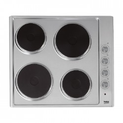 Beko 60cm Hotplate Burner Built In Electric Hob (HIZE64100X)