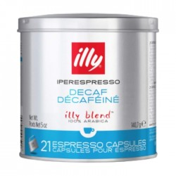 Illy Decaffeinated Espresso Coffee 21 Capsules - Blue