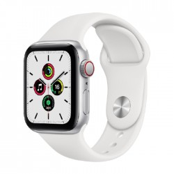 Apple Watch SE GPS and Cellular 40mm - Silver \ White