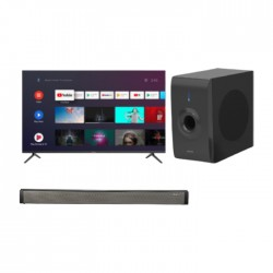 Wansa Subwoofer 30W (LY-S218W) + Wansa Soundbar 30W (LY-S218W) + Wansa 65-inch UHD Smart LED TV (WUD65JOA63S)