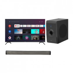 Wansa 70-inch UHD Smart LED TV (WUD70JOA63S) + Wansa Soundbar 30W (LY-S218W) +  Wansa Subwoofer 30W (LY-S218W)