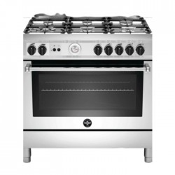 La Germania 100x60 cm 6 Burner Free Standing Gas Cooker (AMS106C81BX) - Stainless Steel
