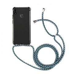 EQ Necklace String Huawei Y6 2019 Case - Blue Strap