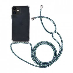 EQ Necklace String iPhone 11 Case - Green Strap