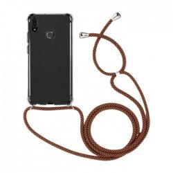 EQ Necklace String Huawei Y6 2019 Case - Brown Strap