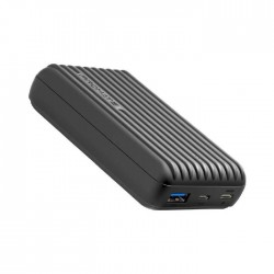 Promate Titan 10000mAh Ultra- Compact Rugged Power Bank with USB-C Input & Output - Black