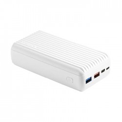 Promate Titan 30000mAh High Capacity Power Bank with Power Delivery and Quick Charge 3.0 - White