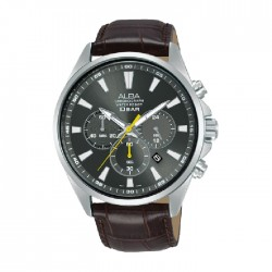 Alba 43mm Chronograph Gents Leather Fashion Watch (AT3G61X1)
