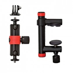Joby Action Clamp & Locking Arm for Action Camera - (Black/Red)