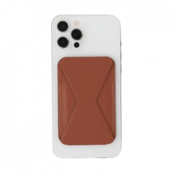MOFT Snap-On iPhone 12 Stand & Wallet - Sienna Brown