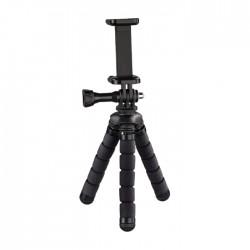 Hama Flex Mini Tripod for Smartphone and GoPro - Black