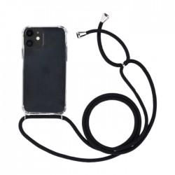 EQ Necklace String iPhone 11 Case - Black Strap