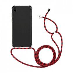 EQ Necklace String Huawei Y5 2019 Case - Red Strap