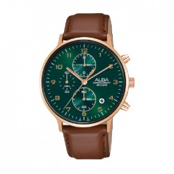 Alba 40mm Chronograph Gents Leather Casula Watch (AM3688X1)