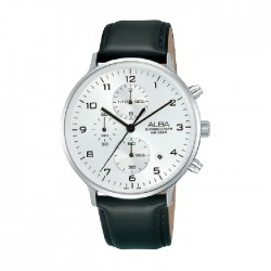Alba 40mm Chronograph Gents Leather Casual Watch (AM3691X1)