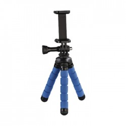 Hama Flex Mini Tripod for Smartphone and GoPro - Blue
