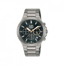 Alba 40mm Chronograph Gents Metal Casual Watch - AT3G65X1
