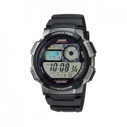 Casio Digital Gents Watch 44mm GRO with Resin Strap (AE-1000W-1BVDF) - Black