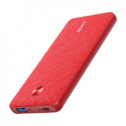 Anker PowerCore III Sense 10K PD, 10000mAh Portable Charger USB-C 18W Power Delivery Power Bank - Red Fabric
