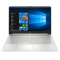 "HP Home Notebook , Intel Core i3, RAM 4GB, SSD 256GB, 15.6"" FHD Laptop - Natural Silver (15S-FQ2000NE)"