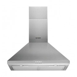 Indesit 60cm Chimney Type Cooker Hood (IHPC 6.4 AMX) - Silver
