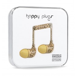 Happy Plugs In-The-Ear Wired Headphones With Mic & Remote – Leopard
