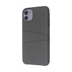 EQ iPhone 11 Blank Pocket Back Case - Black