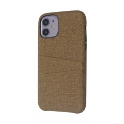 EQ iPhone 11 Blank Pocket Back Case - Brown
