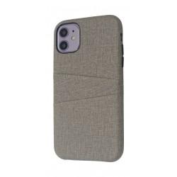 EQ iPhone 11 Blank Pocket Back Case - Grey