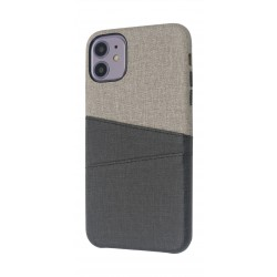 EQ iPhone 11 Blank Pocket Back Case - Grey/Black
