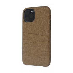 EQ iPhone 11 Pro Blank Pocket Back Case - Brown